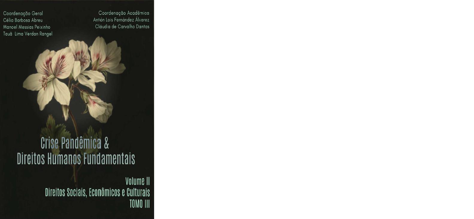 CRISE PANDÊMICA & DIREITOS HUMANOS FUNDAMENTAIS VOLUME II: DIREITOS SOCIAIS, ECONÔMICOS E CULTURAIS.  (TOMO III)