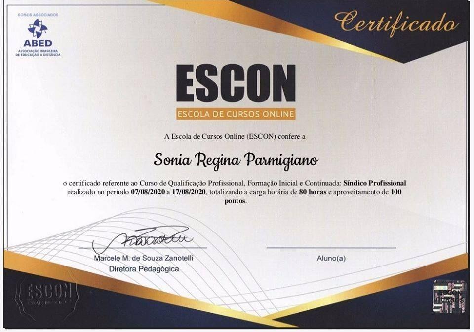 ESCON - SÍNDICO PROFISSIONAL