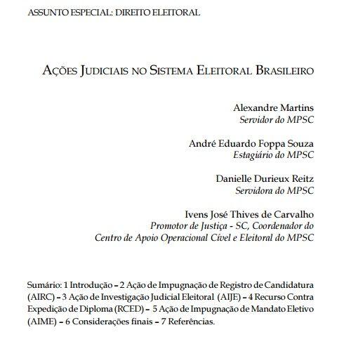 Ações judiciais no sistema eleitoral brasileiro