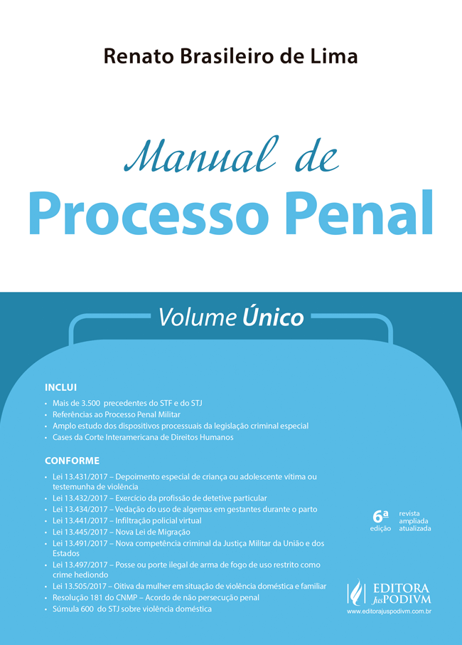 Manual de Processo Penal - Volume único