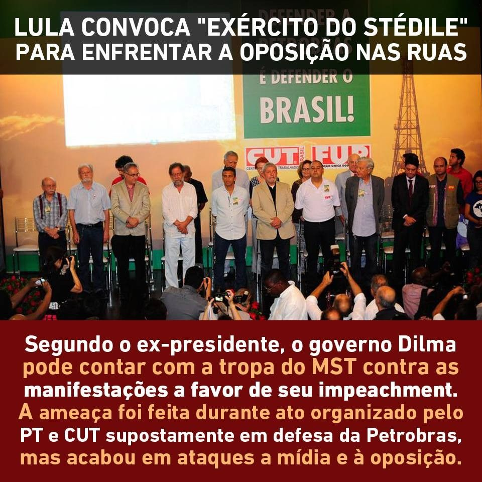 Discurso de Lula na ABI assusta O exrcito vermelho pronto para apunhalar o Estado Democrtico de Direito