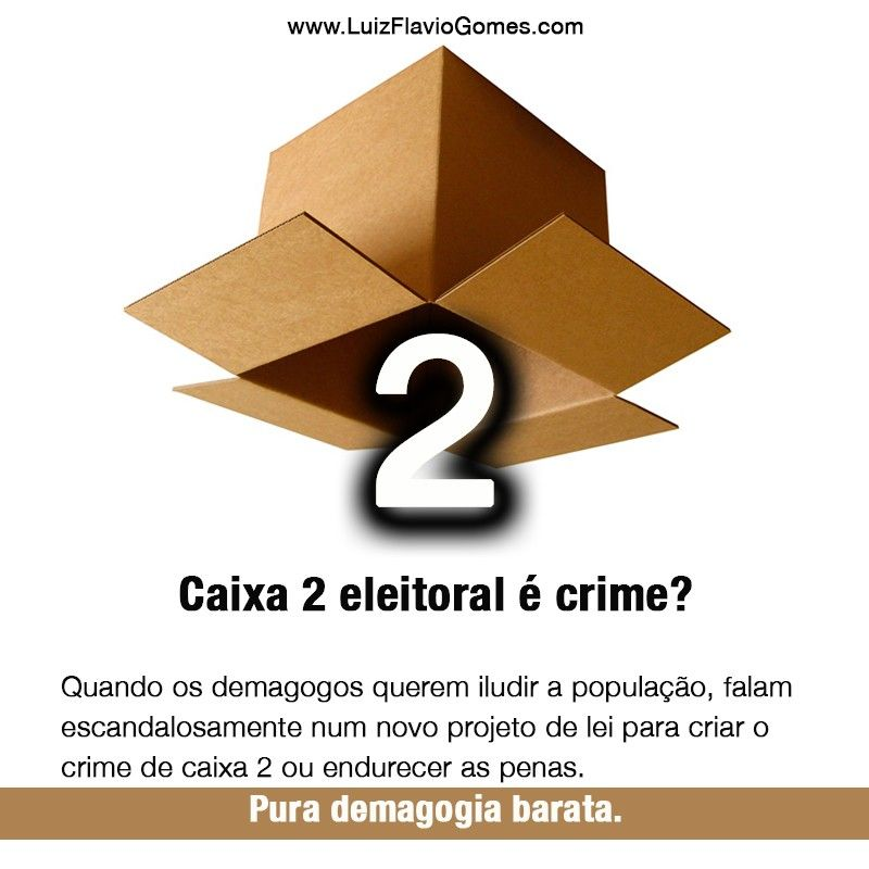 Caixa 2 eleitoral crime