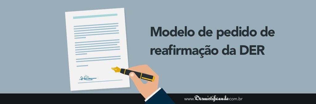 Modelo Genrico de Pedido de Reafirmao da DER judicial