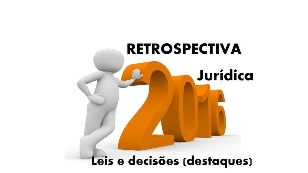 Retrospectiva Jurdica Sistematizada 2016