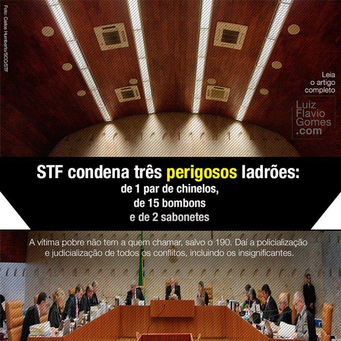 STF condena trs perigosos ladres de 1 par de chinelos de 15 bombons e de 2 sabonetes