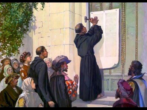 Reforma Protestante: As 95 teses de Martinho Lutero contra as Heresias Católicas.