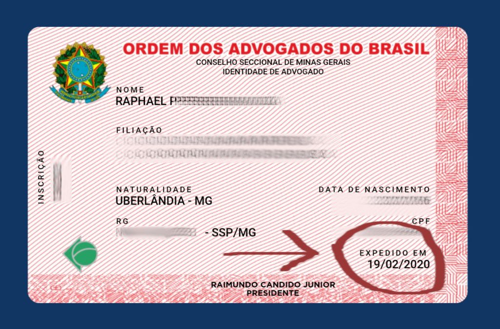 carteira digital da oab com expedida em 2020