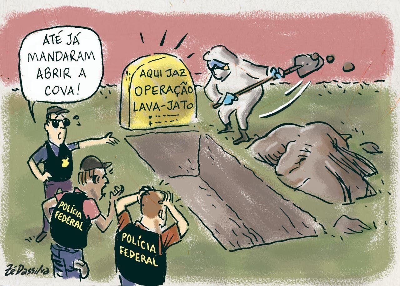 Charge do Z Dassilva Operao Lava-Jato corre risco NSC Total