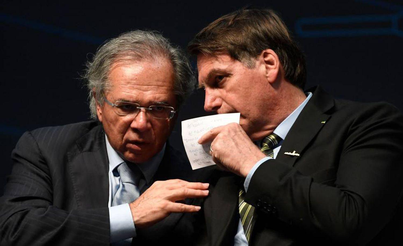 O ministro Paulo Guedes e o presidente Jair Bolsonaro no dia 11 no Rio