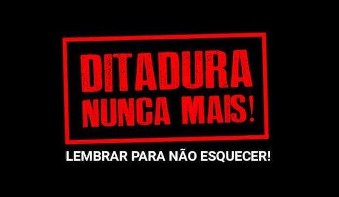 Ditadura Nunca Mais Supla Marcelo D2 e mais rejeitam celebrao de 31 de Maro