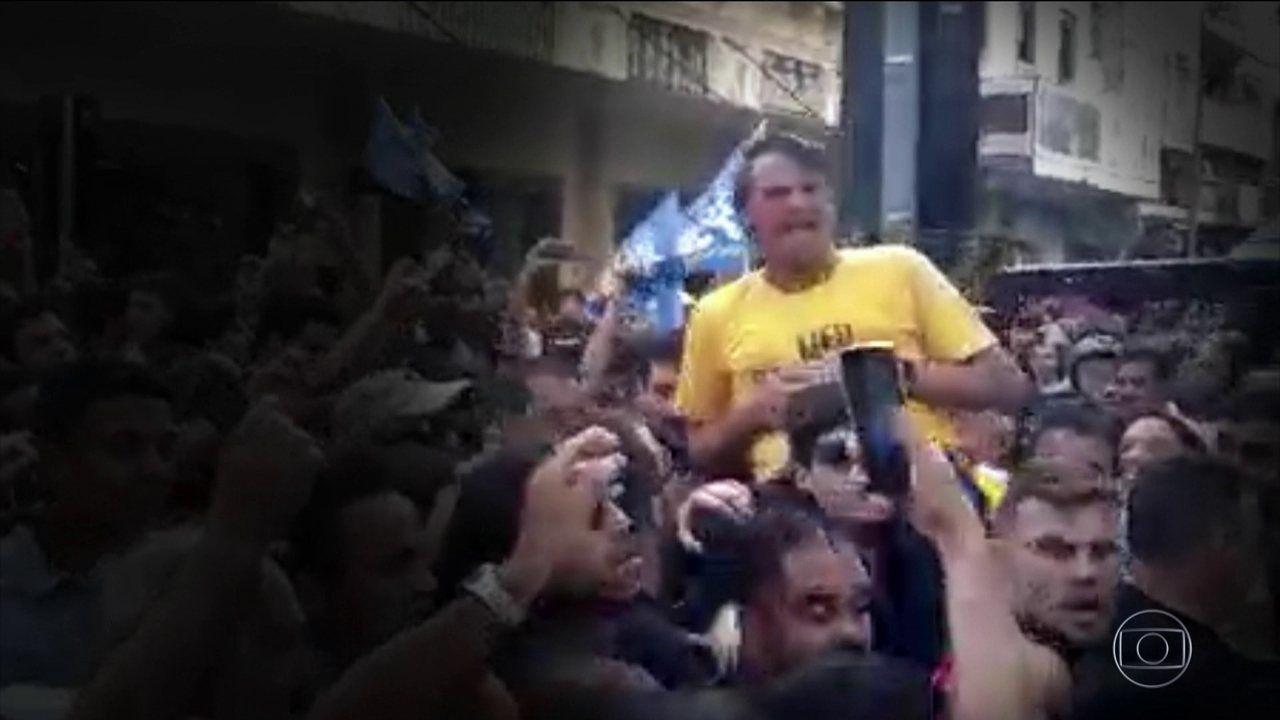 Candidato Presidncia pelo PSL Jair Bolsonaro esfaqueado em Juiz de Fora imagens Fernando Gonalves