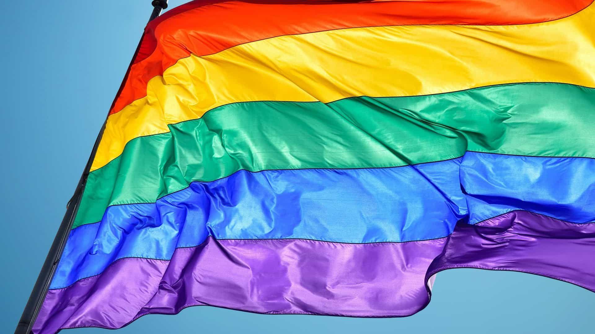 bandeira que representa o movimento LGBTQIA