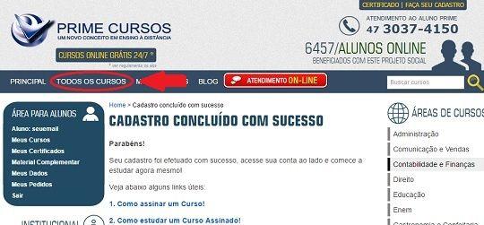 Prime Cursos Do Brasil Fornece Cursos Ead On Line