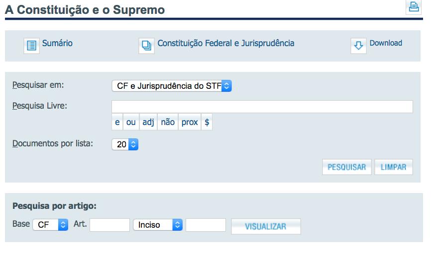 Talvez a melhor maneira de pesquisar jurisprudncia do Supremo