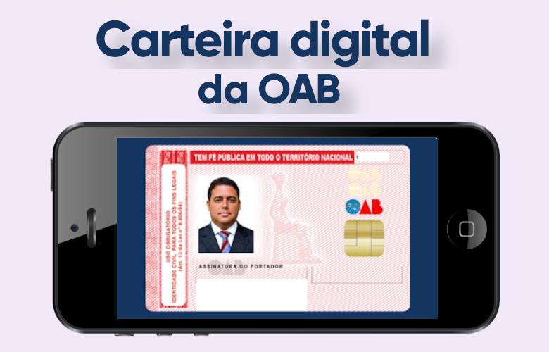 documento digital da oab no smartphone