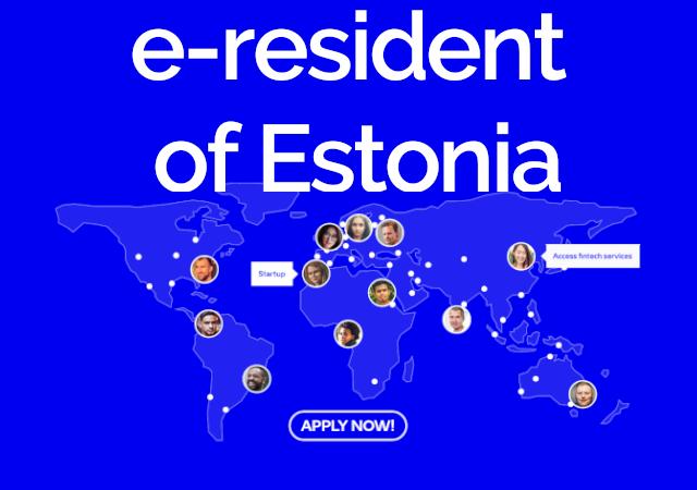 tela inicial do site e-resident da Estnia