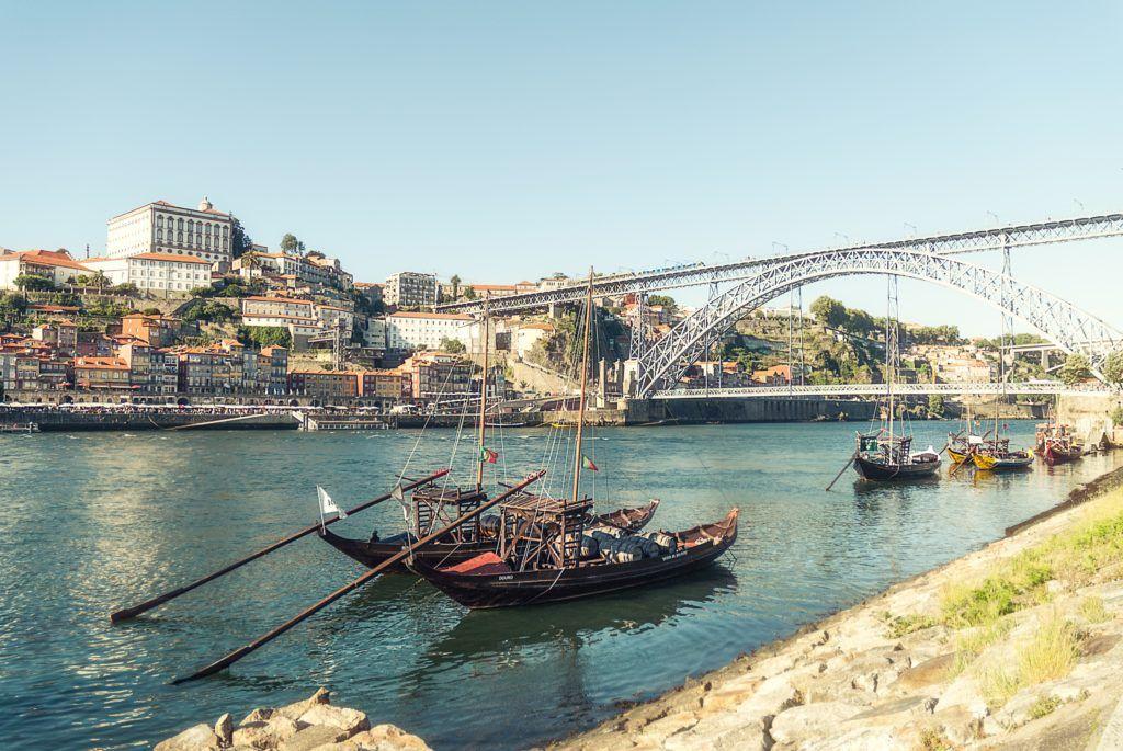 Ponte Lus I em Porto-Portugal