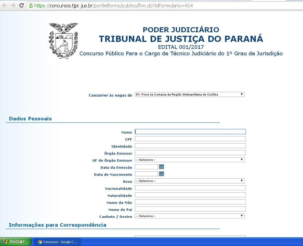Breve Abriro concursos pro Tribunal de Justia do Estado do Paran Cargos Juiza Substitutoa e Tcnicoa Judicirioa