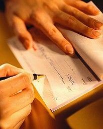Nunca escreva atrs do Cheque