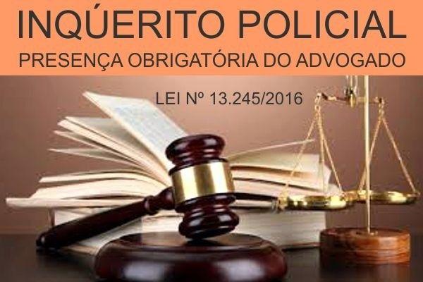 Advogado pratica nova lei e participa de depoimento no inqurito