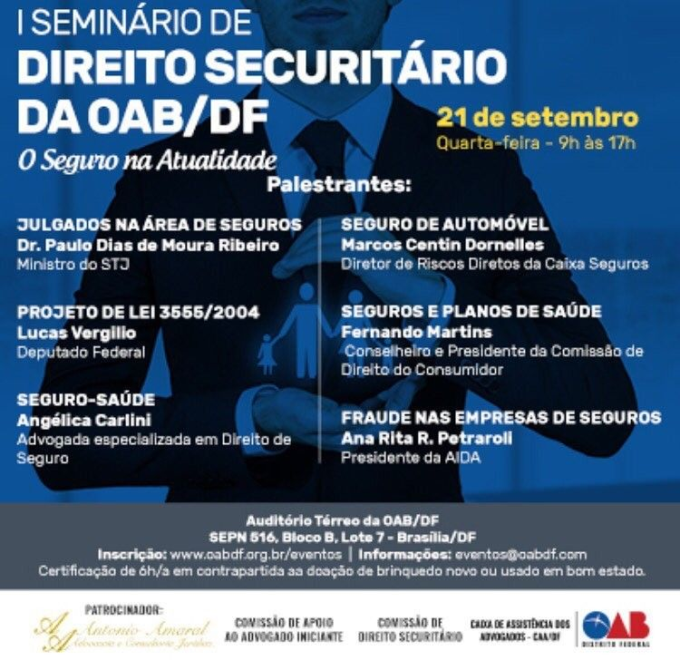 Divulgao de evento I Seminro de Direito Securitrio da OABDF