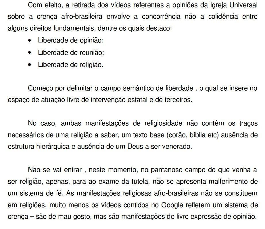 Justia Federal define que cultos afro-brasileiros como a umbanda e candombl no so religio